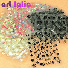 50 X Sheets 3D Design Nail Art Sticker Tips Decal Flower Manicure Stickers New