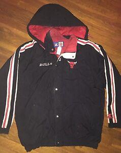 c7388000812d6b Vintage 90 s Men s XL Chicago Bulls STARTER Jacket Black Puffy ...