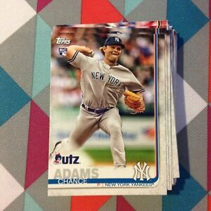 Details About Chance Adams 37 Yankees Rc 2019 Topps Utz Potato Chips Regional Promo Card