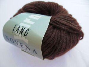 lang yarns novena 25g farbe 68 mittelbraun wolle merino baby alpaka ebay. Black Bedroom Furniture Sets. Home Design Ideas