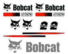 Bobcat S650 Skid Steer Set Vinyl Decal Sticker 9 Pc Free Shipping