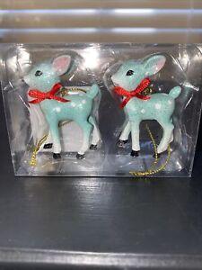 Wondershop-Target-2020-Teal-Retro-Deer-Ornament-Set-Reindeer-New