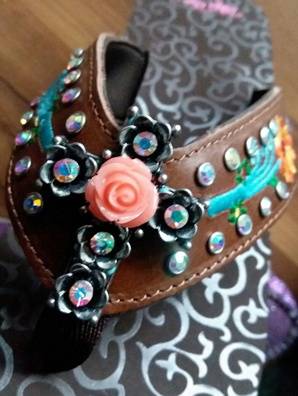 Steve Madden Floral Beaded Sandals 032, Multi, 7.5 US
