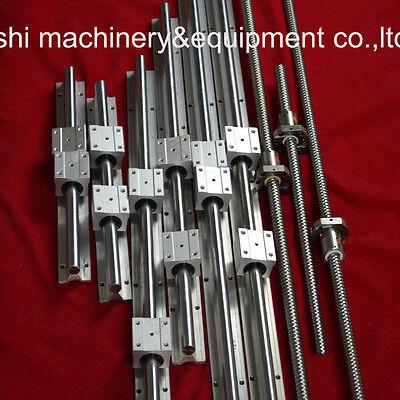 Support Linear Rail 3 Sets SBR16-300/1350/1350mm+3 PCS BALLSCREWS RM1605 For CNC