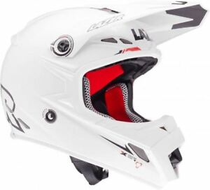 LAZER-MX8-PURE-GLASS-X-LINE-PLAIN-WHITE-SMALL-Motocross-Helmet-MX-Enduro