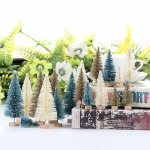 24Pcs-Tabletop-Christmas-Pine-Tree-Xmas-Mini-Snow-Tree-Small-Decoration-Gift-US