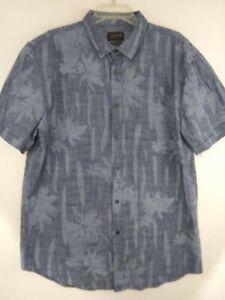 J-A-C-H-S-NY-Indigo-Blue-Floral-Short-Sleeve-Button-Front-Shirt-NWT-Men-039-s-2XL