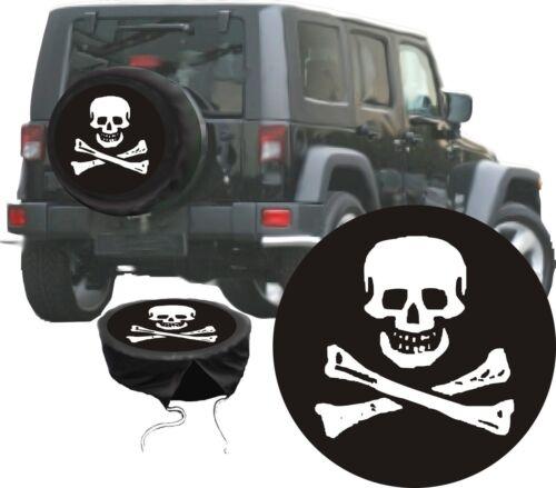 Skull Pirata Jolly Roger Teschio AUTO SUV JEEP Premium ruota di scorta GUSCIO riferimento