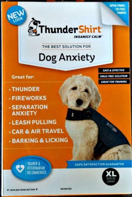 THUNDERSHIRT DOG ANXIETY BEHAVIOR TRAINING GRAY SZ. XL 65-110 lbs