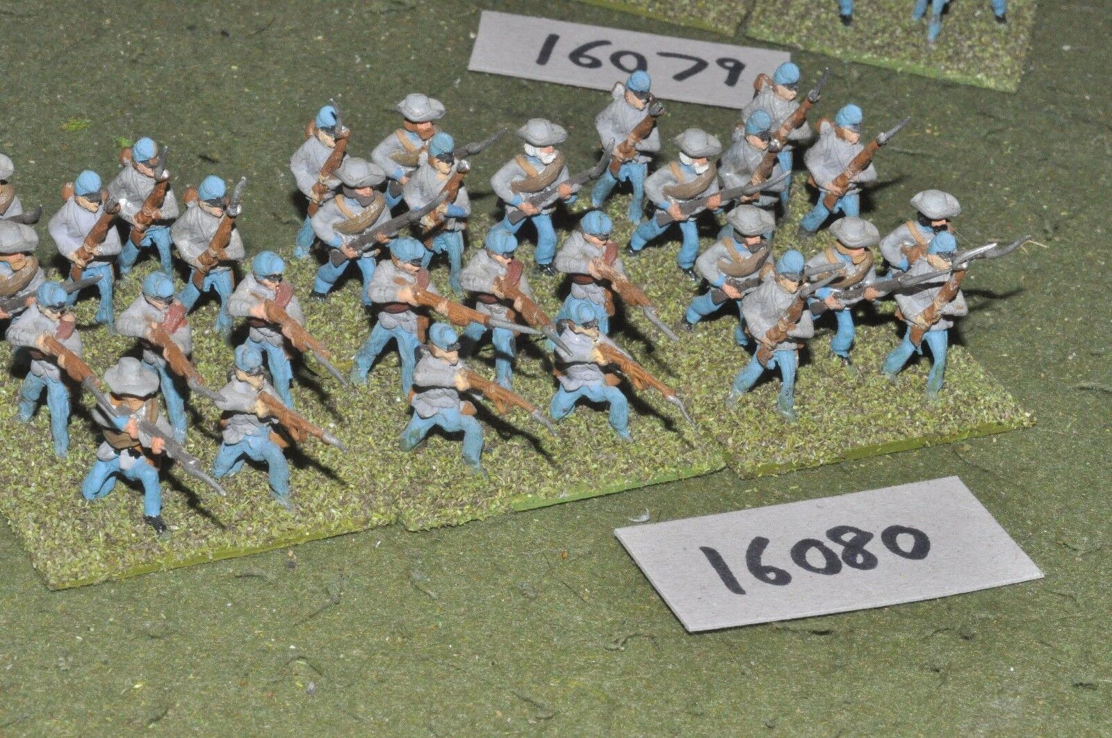 25mm ACW   confederate - american civil war infantry 30 figures - inf (16080)