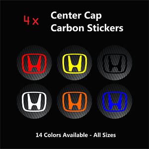 4x-HONDA-Carbon-Fiber-Wheel-Rims-Center-Cap-Decals-Stickers-Civic-Type-R-S2000