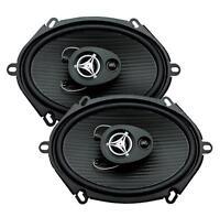 Power Acoustik Ef-573 500 Watts 5 X 7 3-way Coaxial Car Audio Speakers 5x7
