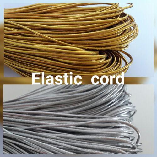 1.5mm Elástico Cuerda De Nylon Hilo De Plata Oro 1M-10M para coser abalorios recorte
