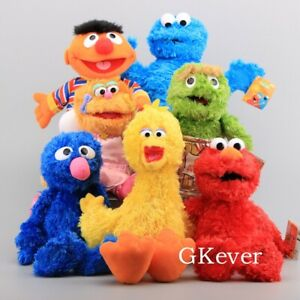 Sesame-Street-Plush-Elmo-Cookie-Monster-Kermit-Hand-Puppet-Play-Games-Doll-Toy