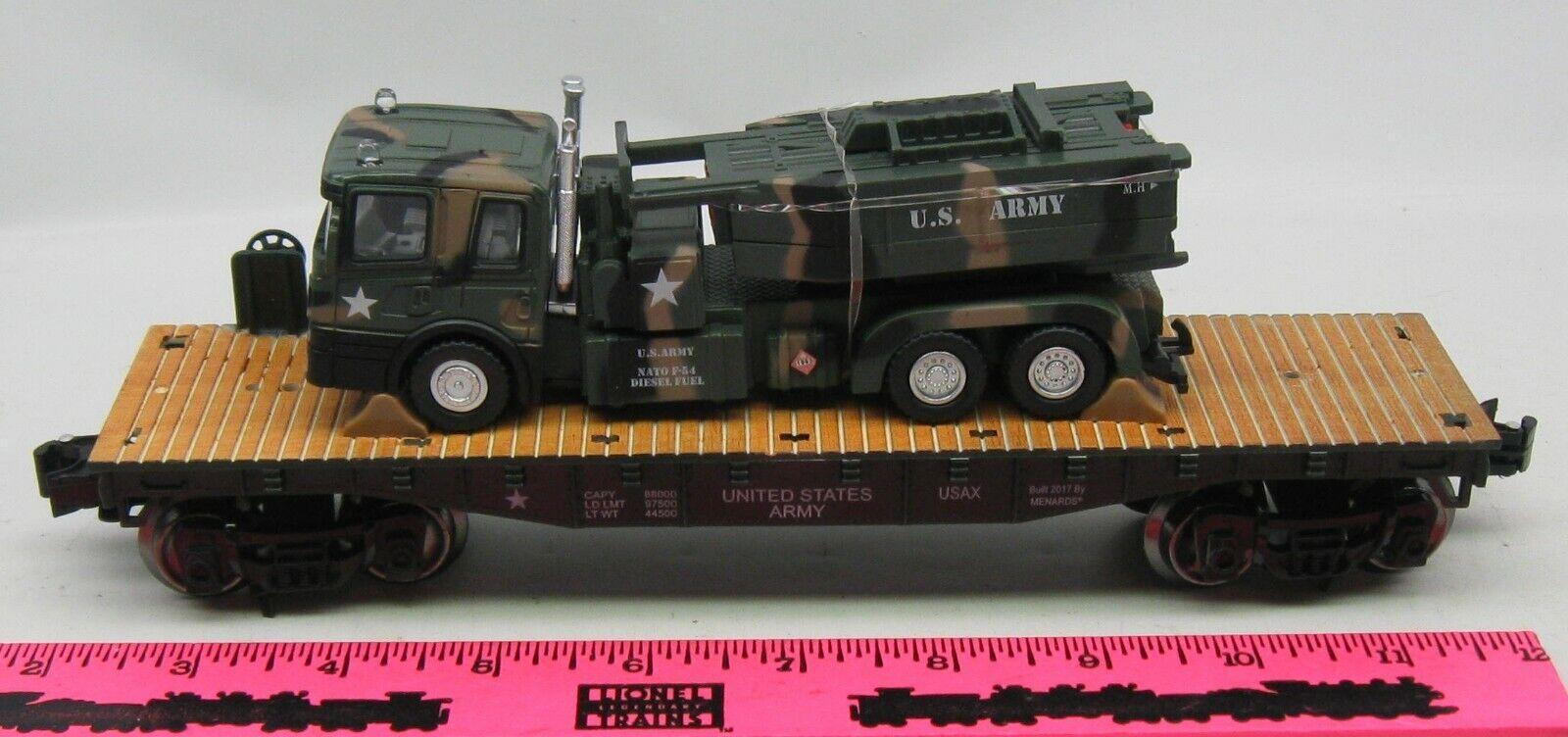 Menards  O Gauge Military Army Flatcar with HIMARS