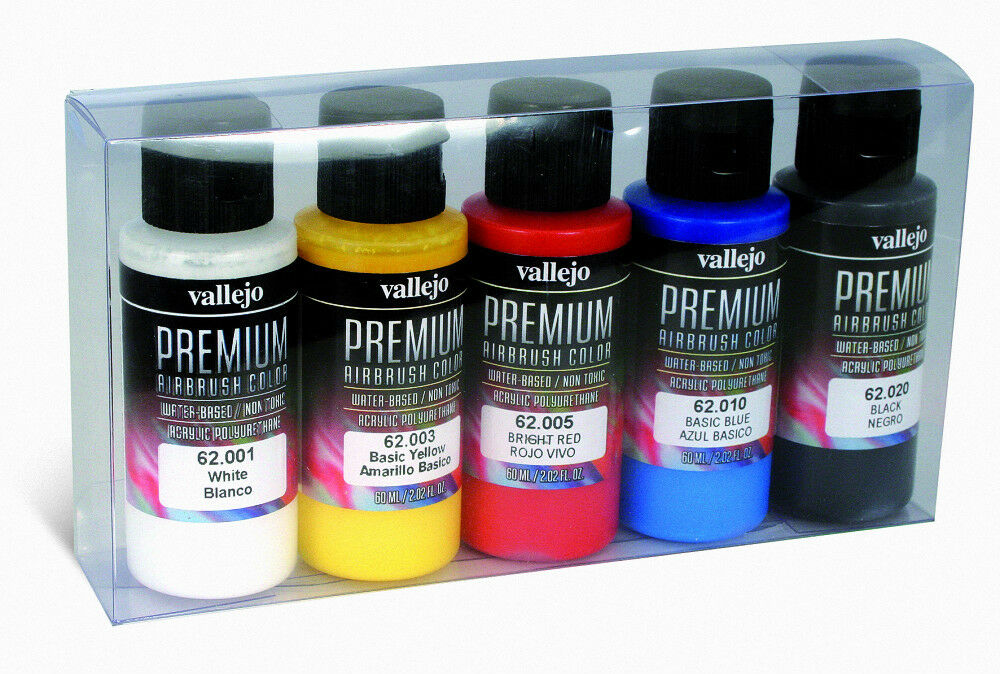 VALLEJO PEINTURE SET VAL62101 - Premium color 60ml - Opaque colors (5 x 60ml)