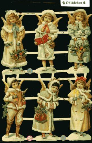 toller Nostalgie Bogen Engelskinder # GLANZBILDER  # EF 7347 6 große Bilder