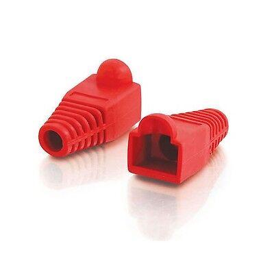 100 Pcs LOT Red CAT5 CAT5E CAT6 RJ45 Plug Connector End Boot Cap Snagless