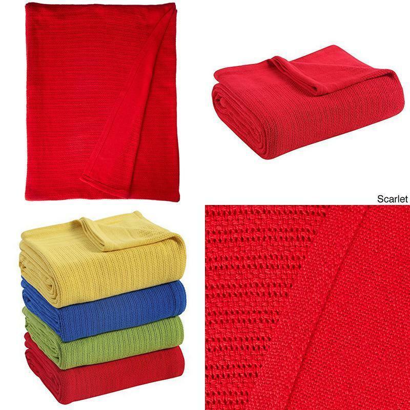 Fiesta Cotton Termo Blanket White King 100 Percent Ring Spun Cotton Exceptional