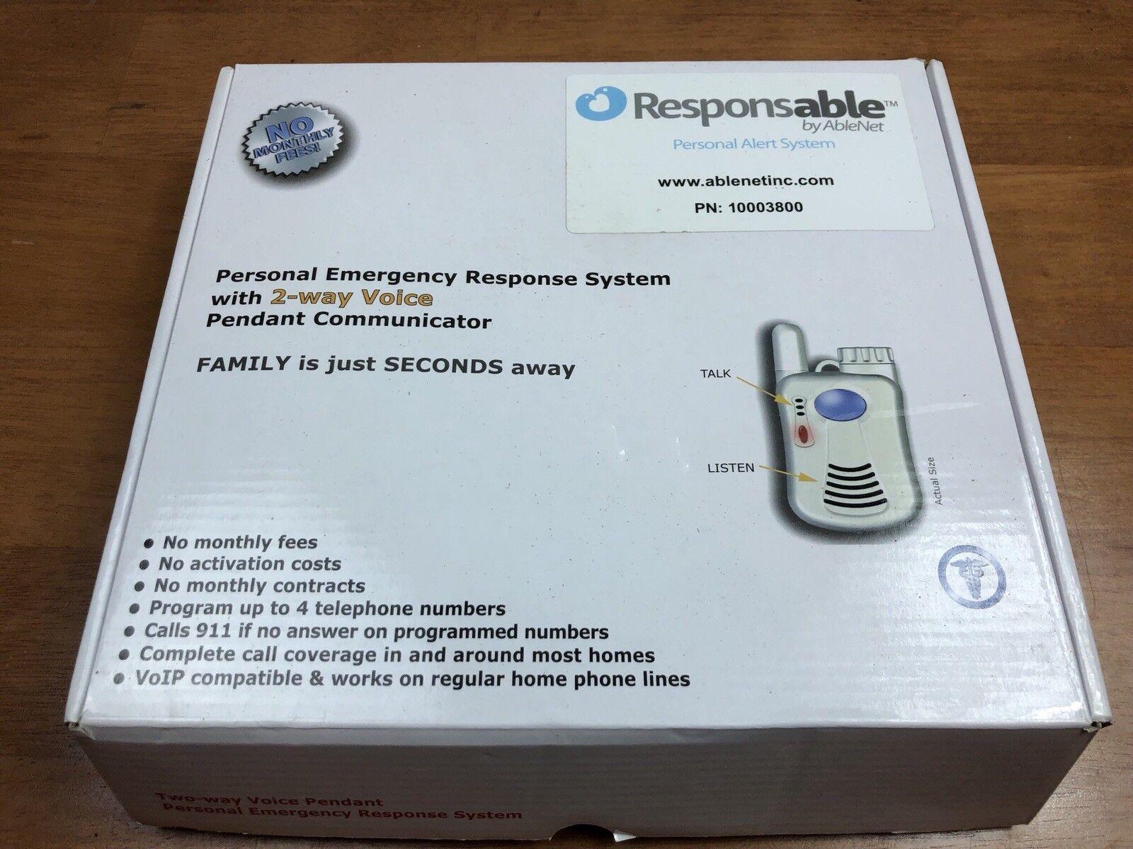 AbleNet 10003800 Responsible Responsable Personal Alert System