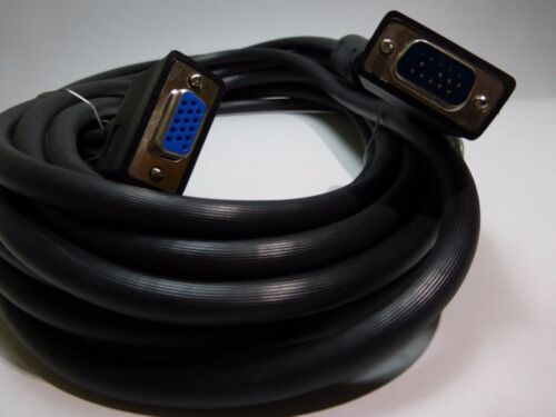 25ft VGA SVGA Male to Female M//F Extension Cable Cord for Monitors