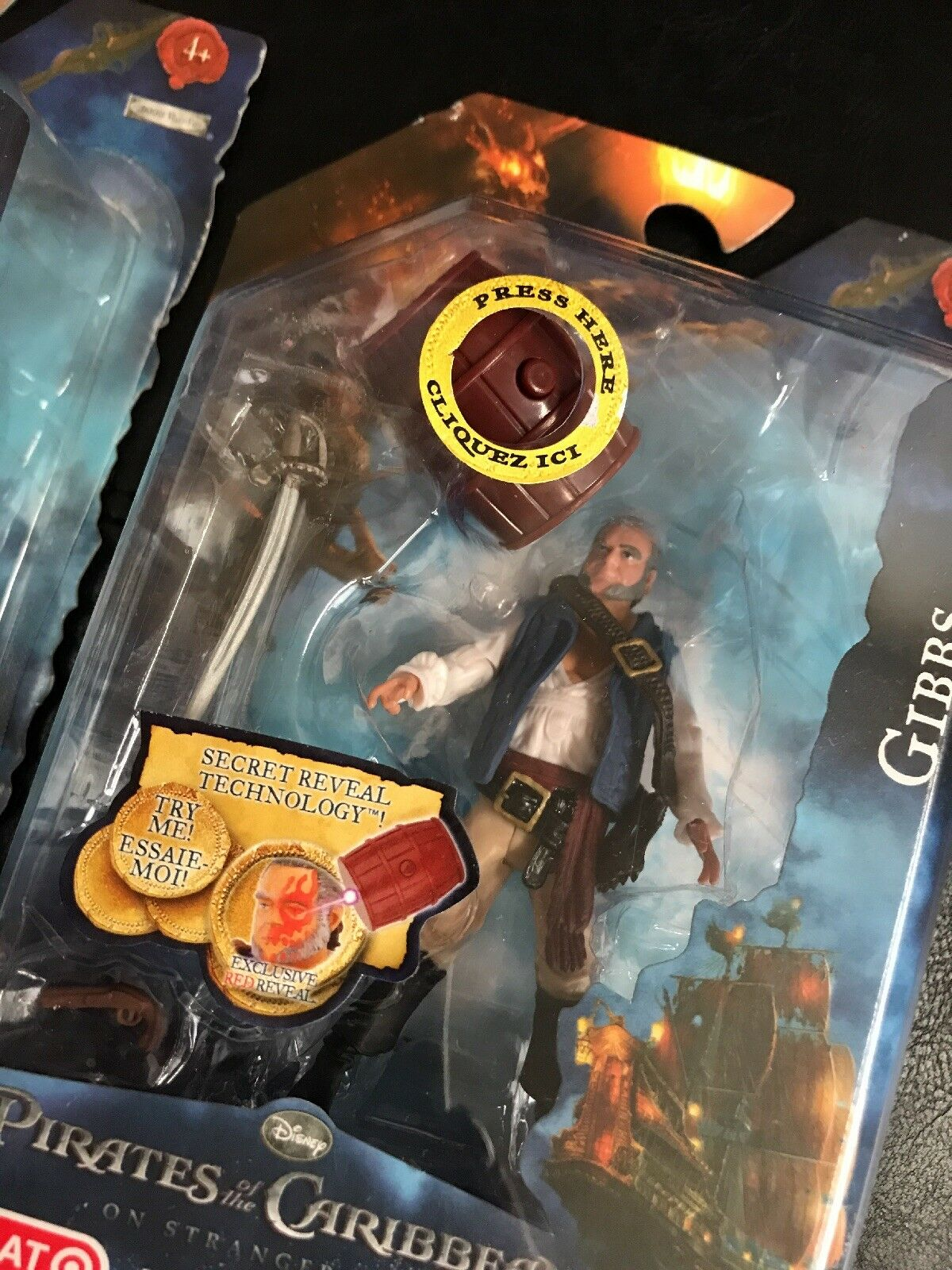 NIB Pirates of the Caribbean Lot of Figures 3 Secret Reveal Action Figures of Sparrow Gibbs 975e4a