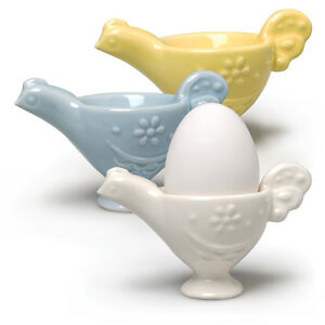 3-Chicken-Color-Ceramic-Soft-Boiled-Egg-Cup-Tray-Holder-Kitchen-Retro-Style