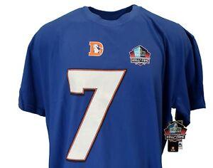 John-Elway-NFL-Denver-Broncos-Majestic-Hall-of-Fame-T-Shirt-New-w-Logo-Flaw