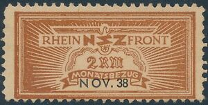 Stamp-Germany-Revenue-WWII-3rd-Reich-NSZ-National-Newspaper-Nov-1938-MNG