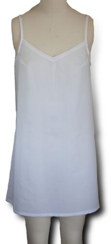 100/% Cotton Lawn Slip Dress liner lining petticoat SEE THROUGH DRESS SOLUTION!