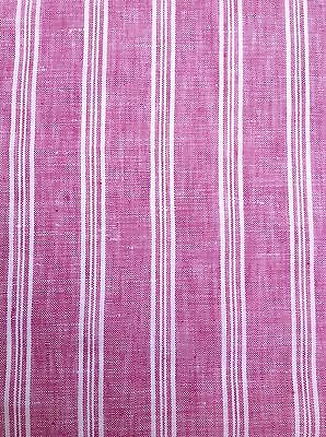 100/% Linen Fabric Yarn Dyed 2mm Small Gingham Check Soft Lavender By the Yard