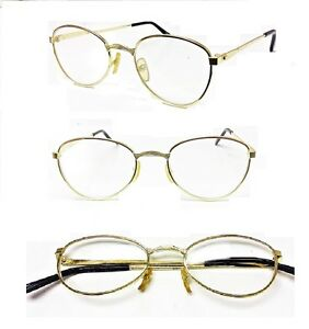 1-or-2-Pairs-Gold-Frame-Wide-Bridge-Reading-Glasses-Oval-Glass-Reader-1-50-3-00