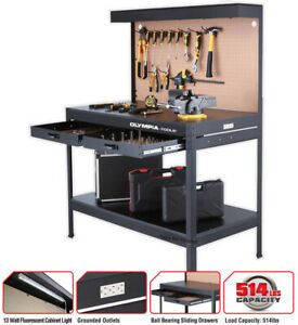 Work Bench With Light PowerStrip Table Reloading Machine ...