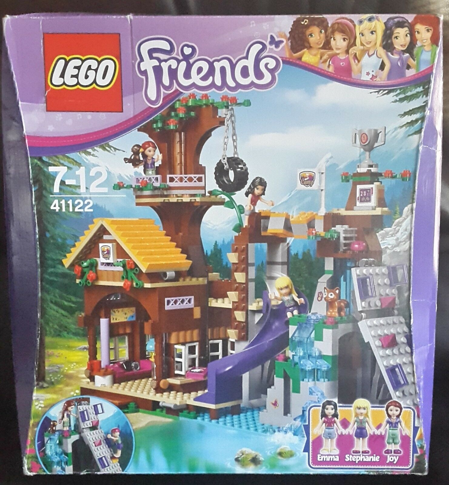 New & Sealed - LEGO Friends 41122 Adventure Camp Tree House - creases in box