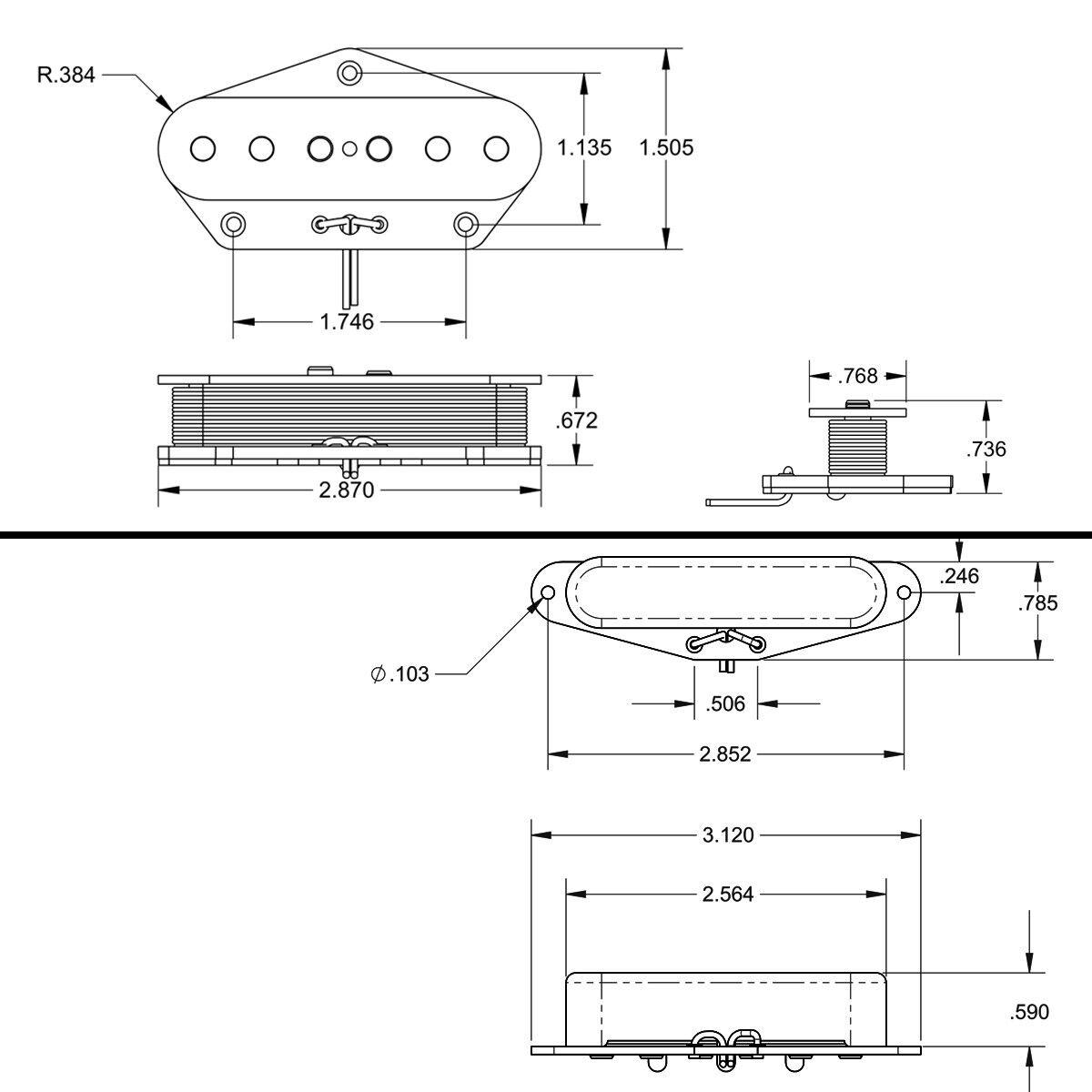 2 single coil pickup neck and bridge pickup for electric guitar fender tele ebay. Black Bedroom Furniture Sets. Home Design Ideas