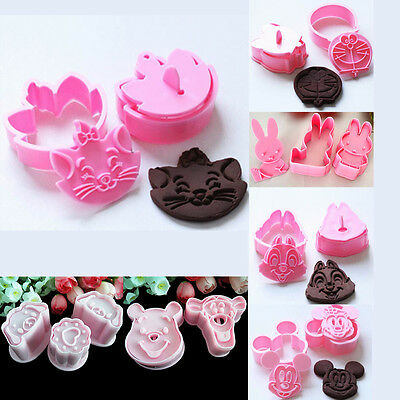 Disney Cartoon Chocolate Cookies Candy Biscuit Fondant Mold Cake Cutter Mould