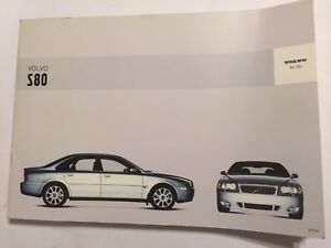 volvo s80 owner manual driver handbook 2004 petrol diesel turbo t6 rh ebay co uk 2014 Volvo S80 2013 Volvo S80