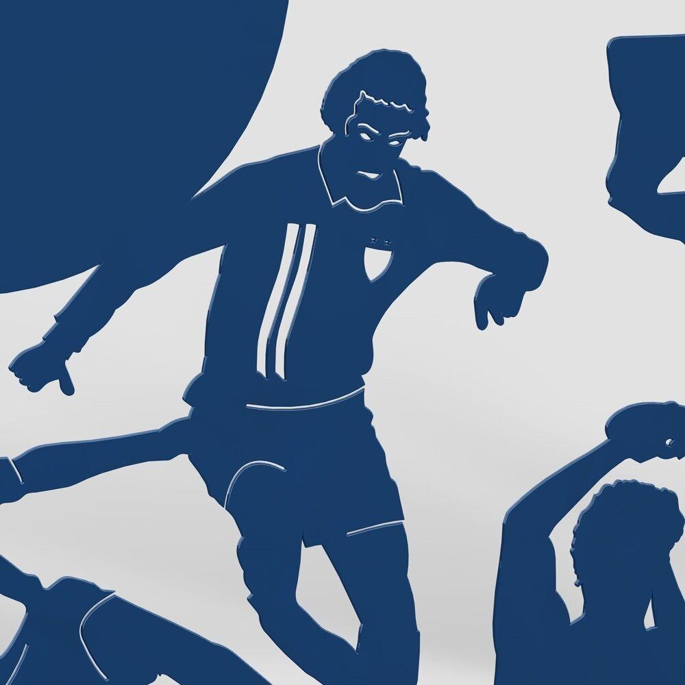 Schwibbogen Lichterbogen Fussball Verein Metall Außen Farbe: Blau - - - XL XXL XXXL 4c1b60