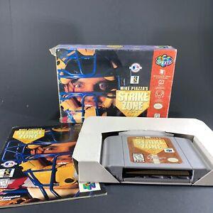 Mike-Piazza-039-s-StrikeZone-Strike-Zone-Nintendo-64-N64-Complete-CIB-Free-Shipping