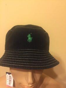 fd99534e65cd0 Details about Polo Bucket Hat Ralph Lauren bucket hat Flamingo Black /  Green Small / Medium