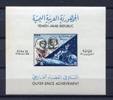 s4578) YEMEN A.R. 1966 MNH** Space Luna IX S/S