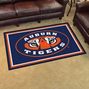 Details about Auburn Tigers 4' X 6' Decorative Ultra Plush Carpet Area Rug