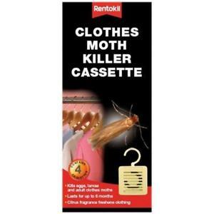 4 X Rentokil Clothes Moth Killer 6 Mois Cassette, Abreuvoir Rafraîchit Vêtements-afficher Le Titre D'origine