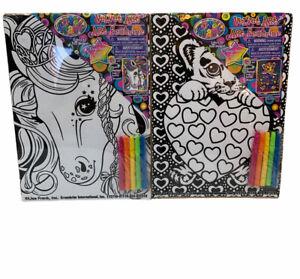 Lisa Frank 2 Velvet Art Tiger Cub & Unicorn Color Posters ...