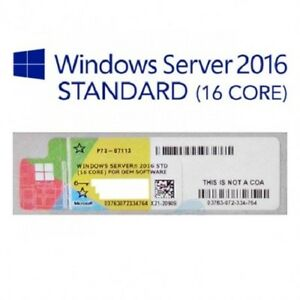MICROSOFT-WINDOWS-SERVER-2016-16-CORE-STANDARD-LABEL-STICKER-COA