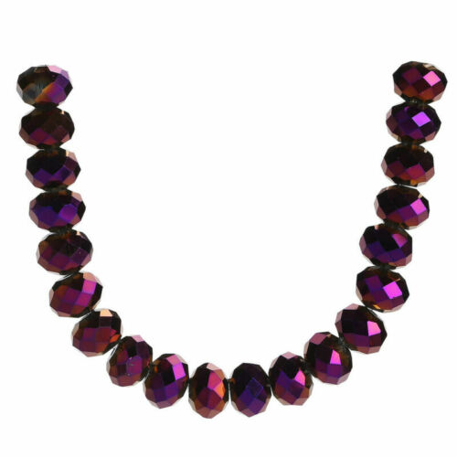 200pcs Bulk Spacer Beads Mixed Crystal Glass Loose 8mm Rondelle Jewelry Faceted#