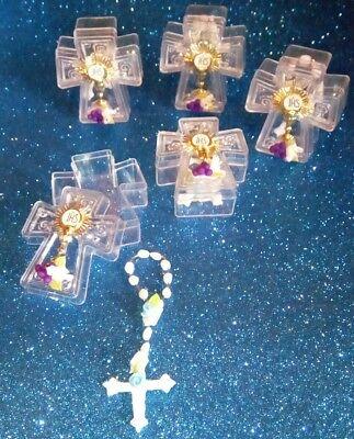 12pcs Mini Rosary for Girls 1stCommunion,Rosario de niña recuerdo 1ra Communion