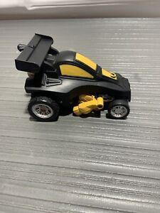 "2016 MerchSource Transformer Car, Black and Yellow  6"" long"