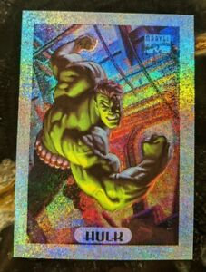 1994-MARVEL-MASTERPIECES-Limited-Edition-Silver-Holofoil-Card-4-of-10-Hulk