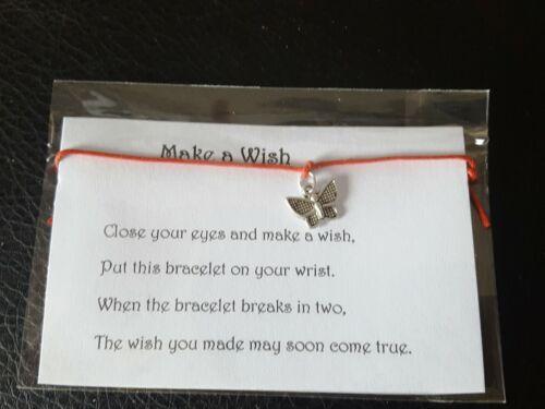 Wish Bracelet Friends  Hen party Gift Tibetan Butterfly Charm